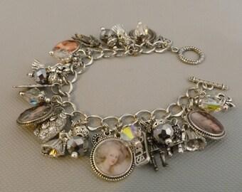 Marie Antoinette of France Altered Art Charm Bracelet