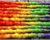 SKITTLES. 5 Short/Medium Length Wrappy Double Ended DE Synthetic Dreads