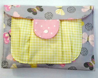 Baby Girl Diaper Clutch Diaper Holder Diaper and Wipes Butterflies So Cute For the Modern Baby