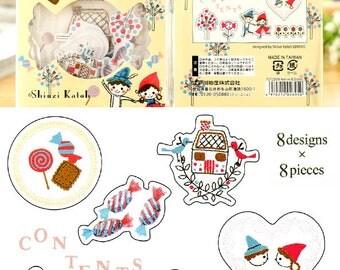 Set of 64pcs Deco Stickers - Friends, Snow Whites