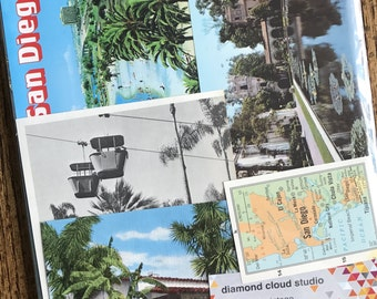 Let's Travel to San Diego and La Jolla California Collage, Scrapbook and Planner Kit Number 2370