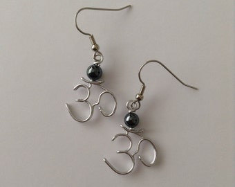 Om Symbol Earrings for Yoga and Meditation Lovers