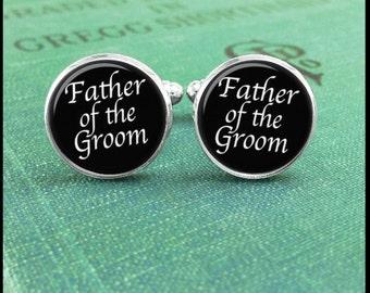 Father Of The Groom Cufflinks, Wedding Cufflinks, Groom Cufflinks, Cuff Links Wedding, Cufflinks for Father, Classic Cufflinks, Custom
