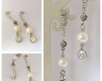 Freshwater Pearl Earrings , Brides Jewellery Earrings , Bridesmaids Gifts