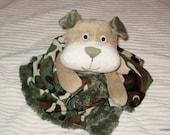 Security Blanket, baby blanket, luvi, lovie - bulldog lovems