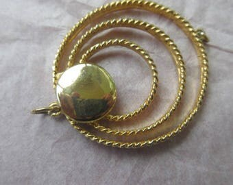 Large connector, vintage connector , gold connector, gold pendant