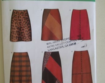 New Look Sewing Pattern 6300 ~ Skirt Pattern ~ Easy to Sew Skirt ~ Size 8-18