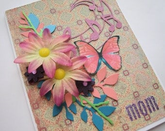 Dimensional Mother's Day card - Mother's Day Card handmade