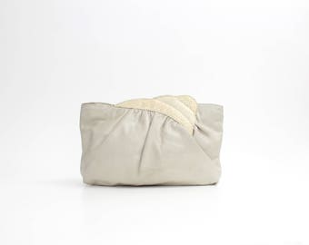 Vintage Buttery Soft Leather Purse | Morris Moskowitz Snakeskin Scalloped Clutch | Soft Leather Crossbody Bag