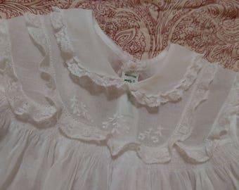 Vintage Handmade Baby Girl Dress, Feltman Dress