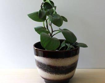 1960s West German pottery planter by Bay Keramik