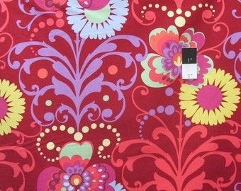 Amy Butler AB49 Love Paradise Garden Wine Cotton Fabric By Yard
