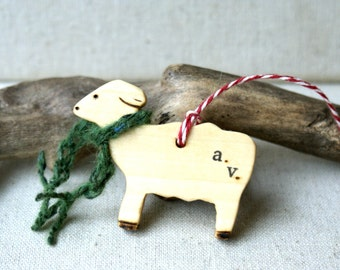 Custom Branded Sheep Ornament