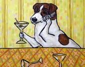 30% off jack russell art, jack russell tile, ceramic coaster, martini art, martini tile, gift, jrt, jac russerll print on tile, tile