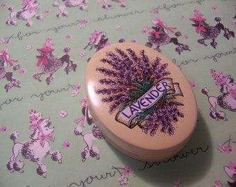 little lavender tin box