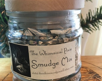 Smudge Mix White Sage, Cedar and Lavender in Apothecary Jar