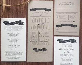 Custom Graphic Design / Digital DIY Printable PDFs / Wedding Invitations or Reception Stationery