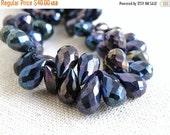 Black Friday Sale Mystic Spinel Gemstone Briolette Faceted Teardrop Purple blue 10mm 1/2 strand 30 beads
