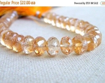 Love You 51% off Sale Mystic Quartz Gemstone Apricot Faceted Rondelle 8 to 8.5mm 1/2 strand 18 beads