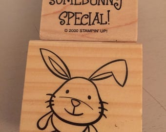 Funny Bunny Rubber Stamps /Easter