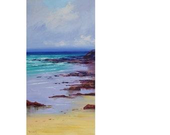 Beach Painting Original Seascape Impressionist Ocean Wall Art