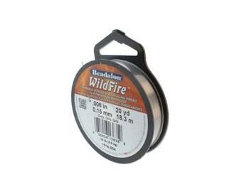 "Beadalon Wildfire 0.006"" (0.15mm) - Grey - 18 metres (CG9511)"