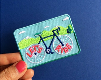 Let's Ride - Cycling Iron On Patch