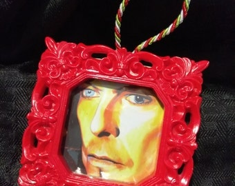 "David Bowie ""David Bowie"" by Mel Fiorentino Christmas Ornament"