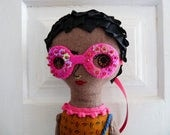 Afro Rag Doll with Glasses Afropunk Festival Girl