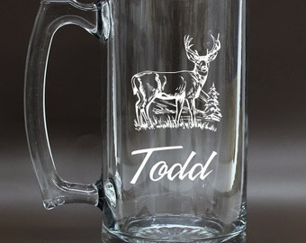 ON SALE,Beer Stein,Personalized Beer Mug,Groomsmen Mug,Engraved Beer Mug,Personalized Glasses,Etched Beer Mug