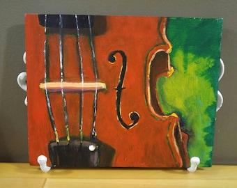 Violin Scroll oil painting