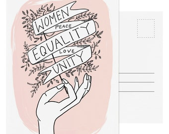 Women Equality Unity Postcard - Single