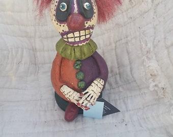 Skeleton Clown Gourd