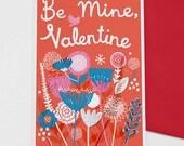 Be Mine, Valentine card