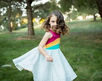 Recycled Rainbows Dress