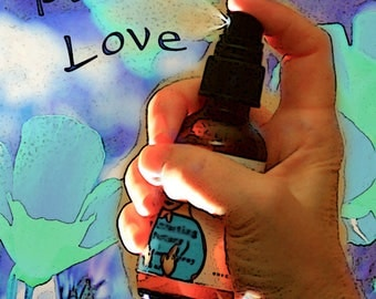 Soothing Anger, Flower Essence Aromatherapy Spray, Organic, Reiki-Infused, for Body and Aura, Peace, Love