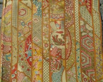 Kimono Silk Striped Floral