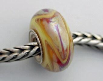 Extreme Flame Dillo Bead  - Artisan European Charm Bracelet Bead (MAY-62)