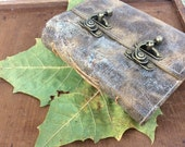 Leather bound key journal / 3rd anniversary gift / leather bound book / sketchbook