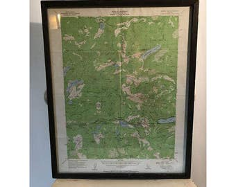 Vintage Green California Map 1950s