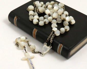 Vintage Mother of Pearl Jerusalem Rosary