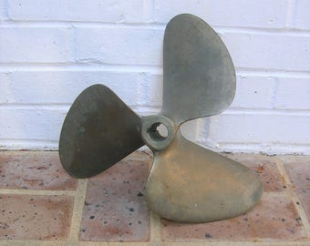 Vintage Brass Propeller Vintage Brass Boat Propeller Nautical Propeller 12 Inches