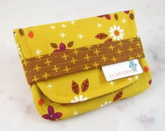 Sanitary Pad Holder, Mustard Floral, Period Bag, Period Kit, Plus Cross, Pads Pouch, Sanitary Napkins Bag, Period Pads, Period Pad Case