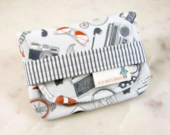 Birth Control Case, Birth Control Holder, Pill Sleeve, Hipster, Typewriter, Glasses, Birth Control Pouch, Pill Pouch, Birth Control Sleeve