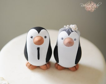 Penguin Cake Topper - Penguins - Wedding - Small