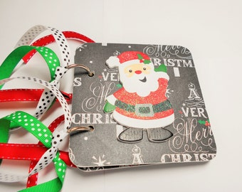 Christmas Giftcard Holder, Giftcard holder, Santa, card holder, Christmas, red and green, mini giftcard holder, mini card holder