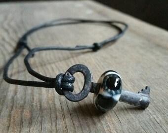 Skeleton Key Eyeball Necklace