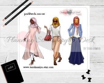 Planner Stickers Hijab Posh Friends Version 3