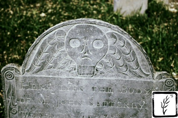 Color Photograph, skull, art photography, creepy, cemetery, halloween, wall art, home decor, photo print, fine art, headstone, death