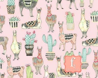 Lovely Llamas Allover Pink by Michael Miller Fabrics 100% Quilters Cotton Available in Fat Quarter, Half Yard, Yard